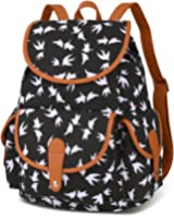 Vbiger Canvas Backpack for Women & Girls Boys Casual Book Bag Sports Daypack