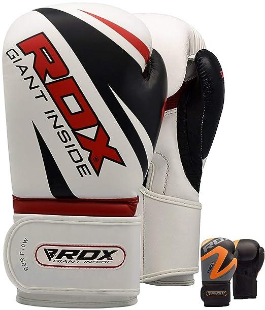 RDX Guantes de Boxeo Muay Thai Saco Kick Boxing Entrenamiento Adulto Sparring Maya Hide Cuero Combate Boxing Gloves