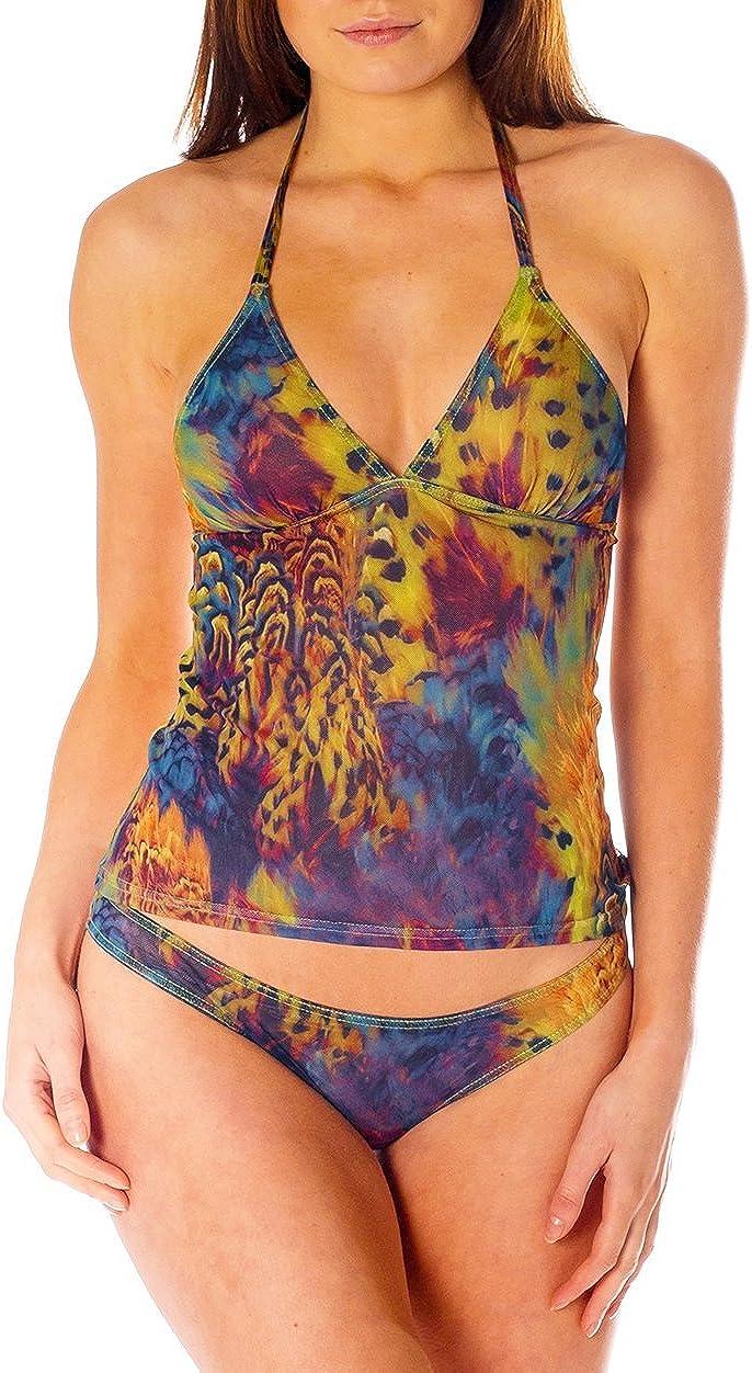 Kiniki Amalfi Tan Through Tankini Top Swimwear