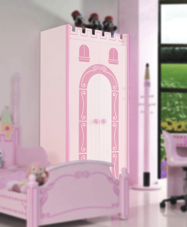 Prinzessin Kleiderschrank Kinderzimmer ROSA Schrank: Amazon.de ...