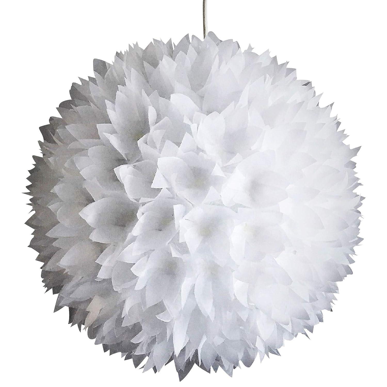 Snowflake, weiße Lampe Leuchte Lampenschirm Pendelleuchte Pendellampe Hängeleuchte Hängelampe Papierleuchte Papierlampe Reispapierlampe Designerlampe Wohnzimmerlampe Schlafzimmerlampe Deckenlampe