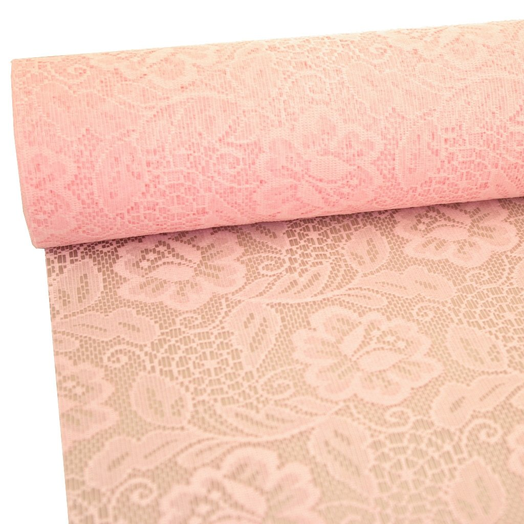 11 by 72 Sizolace table runner 108.. 96 90 - inch 79-300-25-033 roses soft pink 100 acrylic diamonds heart shaped for free