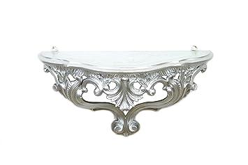 Arredamento Casa Stile Barocco : Ideacasa mensola consolle argentata argento mobile parete stile