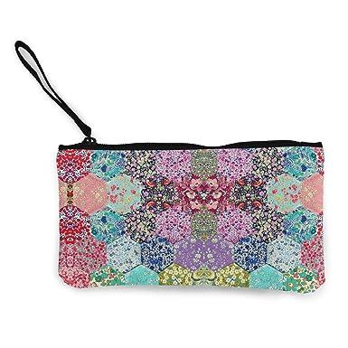 Amazon.com: Bright Hexagons - Bolsa de cosméticos, lona ...