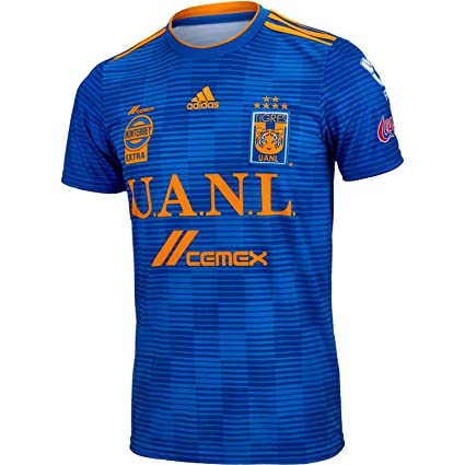 Amazon.com   adidas 2018 19 Tigres UANL Away Jersey Medium (Blue ... 3aa3df16b