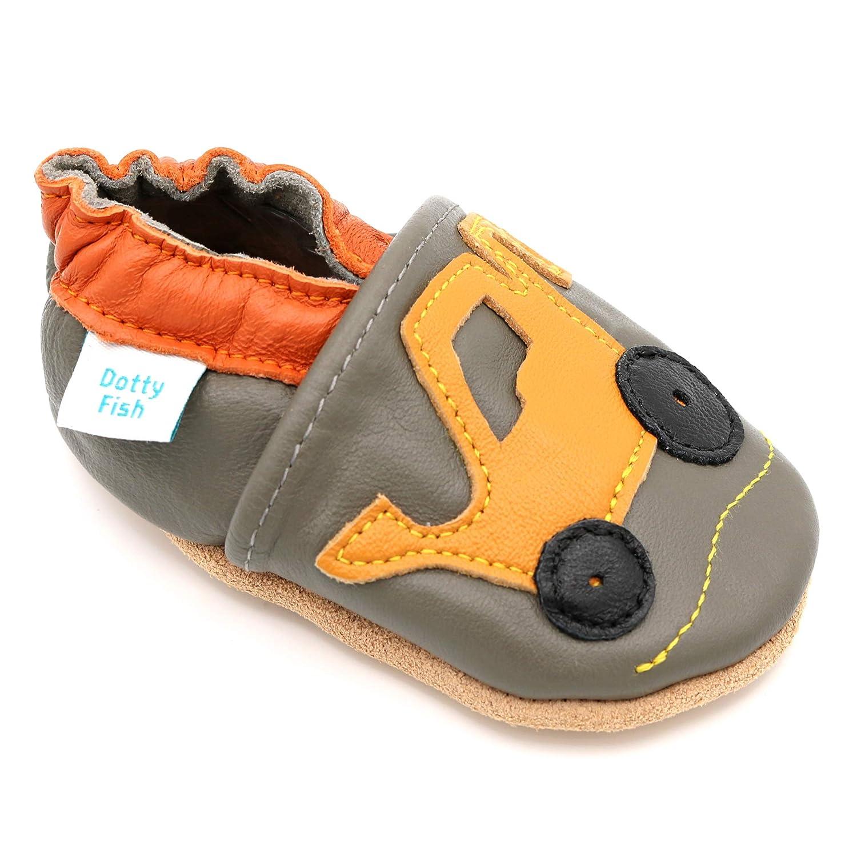 Kleinkind Schuhe 0-6 Monate bis 4-5 Jahre Transport- und Sternentw/ürfe f/ür Jungen Dotty Fish weiche Leder Babyschuhe mit rutschfesten Wildledersohlen Tier-
