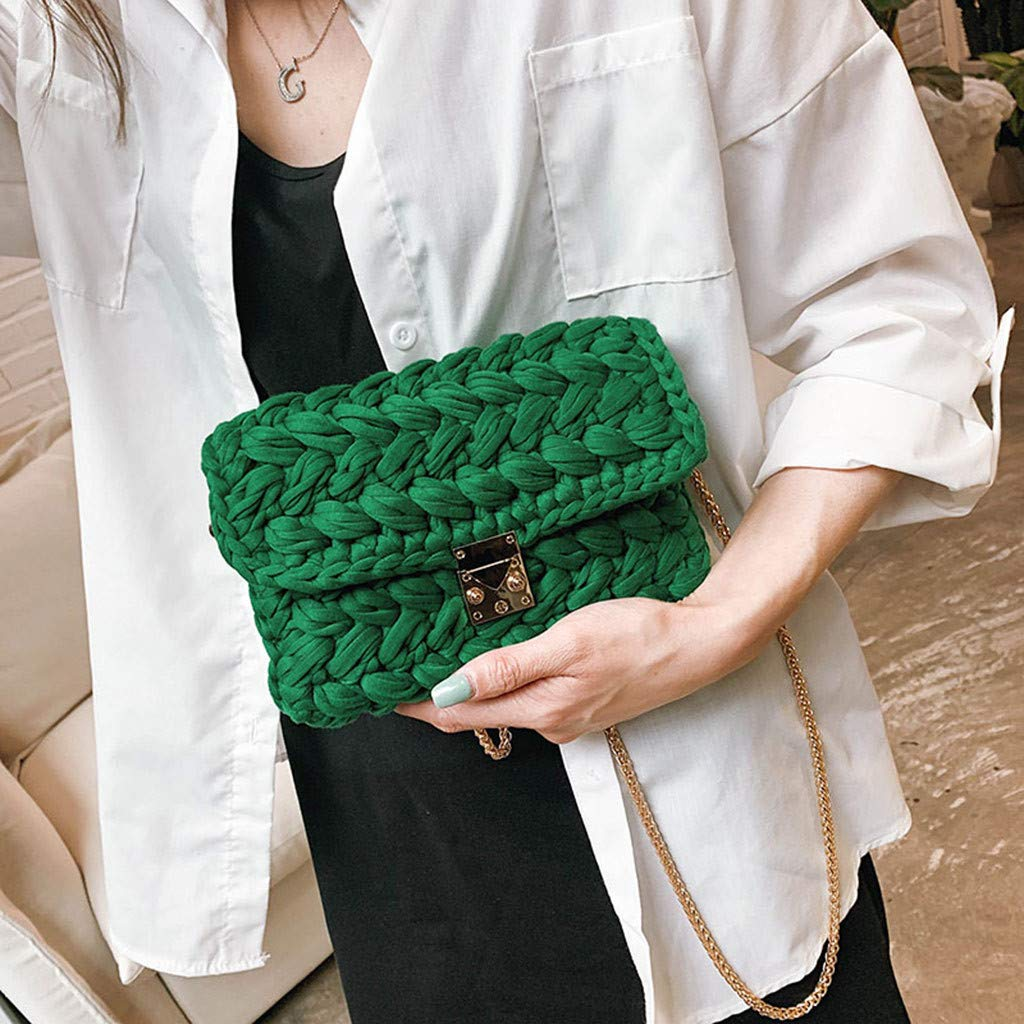 Ladies Travel Weekender Shoulder Bag Women Bag Woven Colorful Bag Texture Wild Explosions Handbags Fashion Messenger by Chiccc (Image #3)