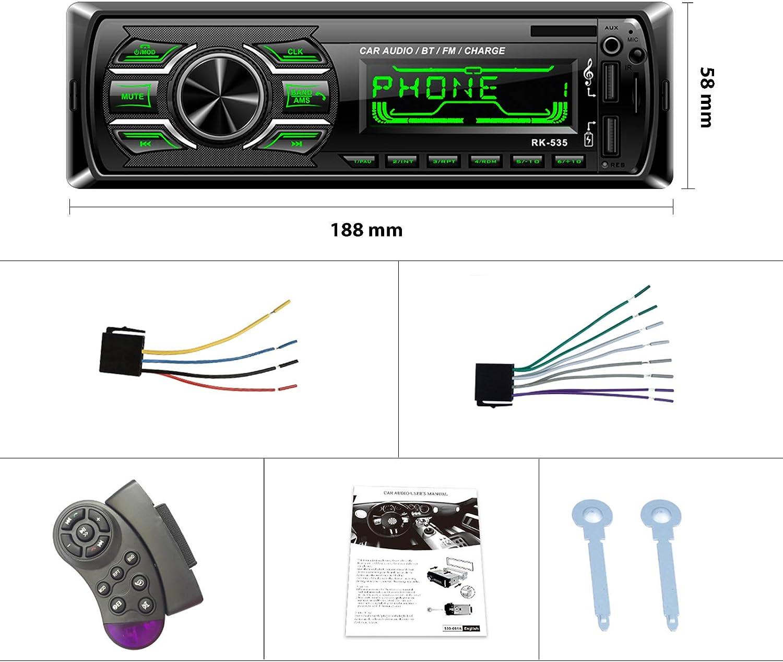 Podofo-Autoradio mit Bluetooth Lenkradsteuerung 4 x 50 W ...