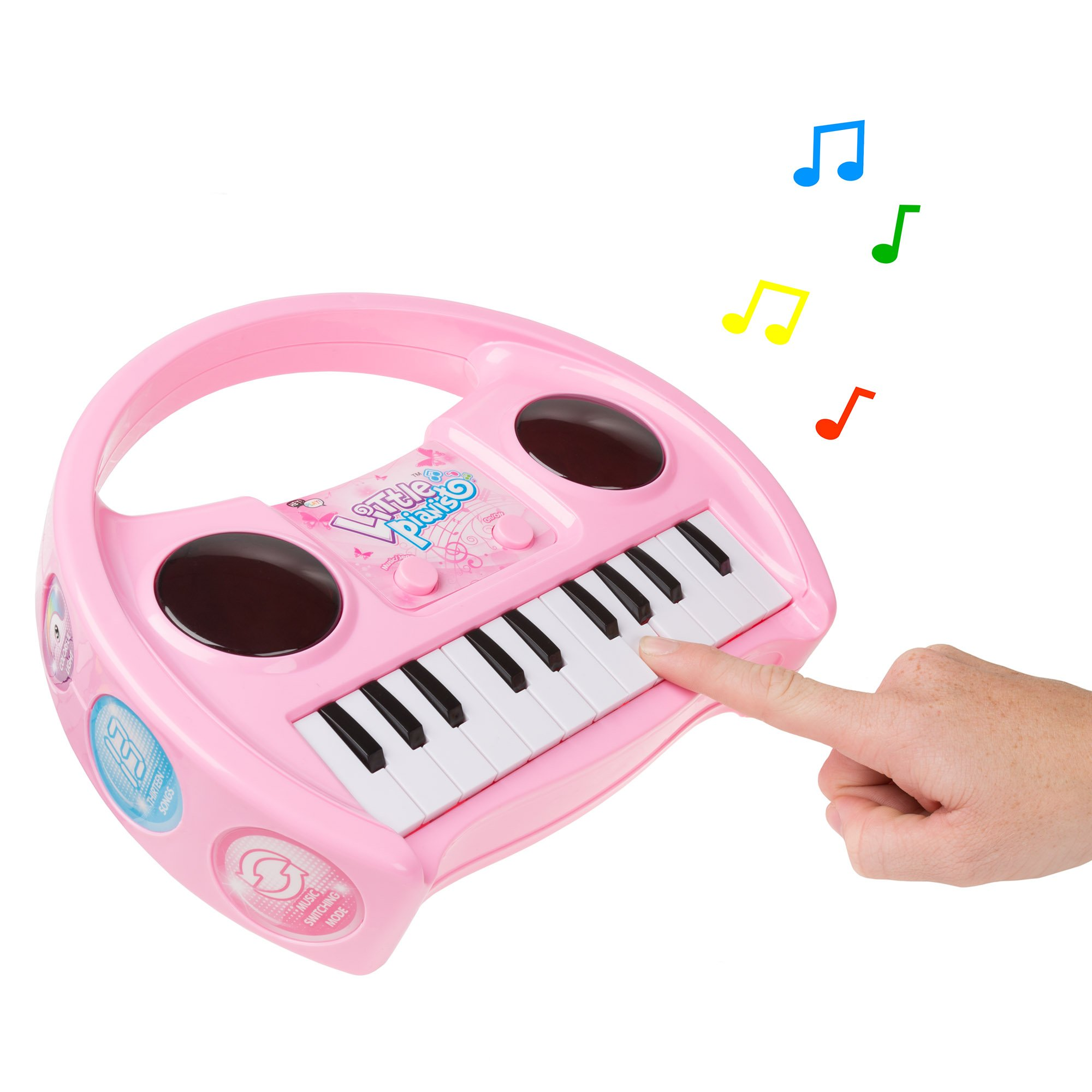Kids Karaoke Machine with Microphone, Includes Musical Keyboard & Lights - Battery Operated Portable Singing Machine for Boys and Girls by Hey! Play! by Hey!Play! (Image #3)