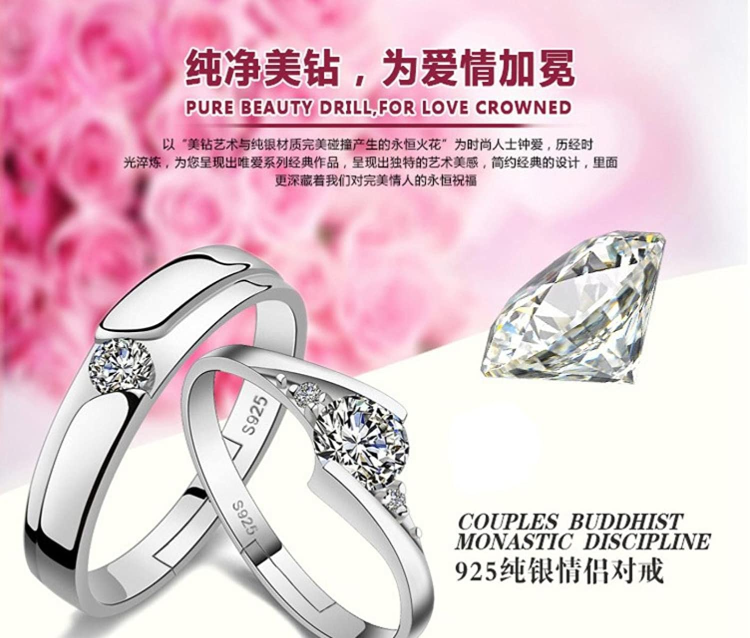 Buy Dc Jewels King & Queen Love Forever Silver Plated Adjustable ...
