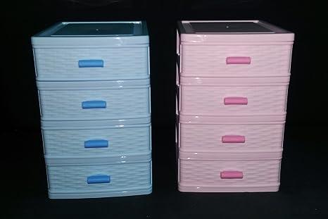 Cassettiere In Plastica Per Minuterie.Takestop Cassettiera Contenitore 4 Cassetti In Plastica Multiuso