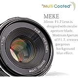 Meike Objectif APS-C focus manuel à grande ouverture 35mm f/1.7 Pour appareil photo sans miroir …Fuji