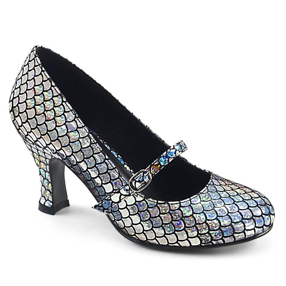 Women's Mermaid Silver Low-Heel Pumps - DeluxeAdultCostumes.com