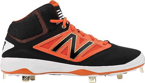 79a457929 New Balance 4040v3 Midcut Metal Cleat Men s Baseball 11 Black-Orange ...