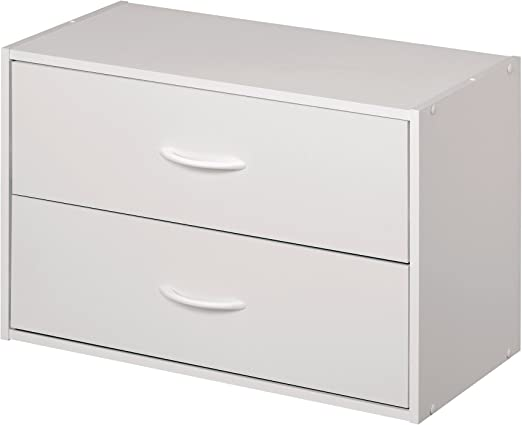 Amazon Com Closetmaid 1566 Stackable 2 Drawer Horizontal Organizer White