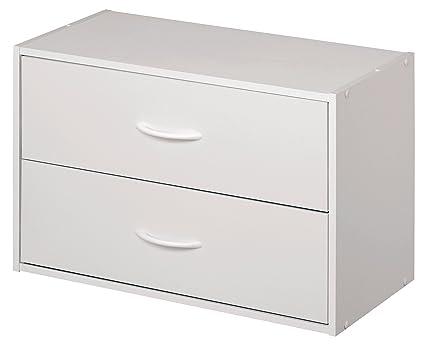 ClosetMaid 1566 Stackable 2 Drawer Horizontal Organizer, White