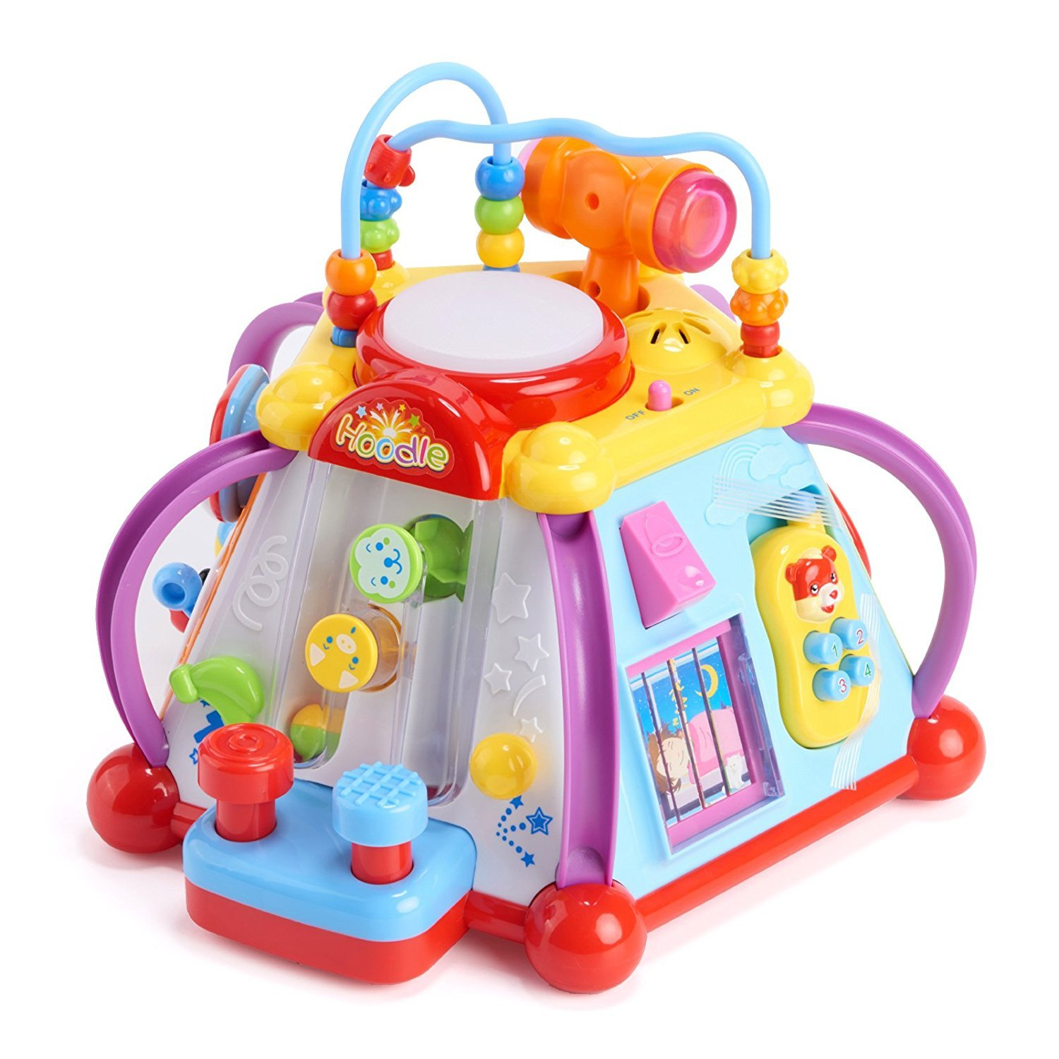Woby Musical Activity Cube Toy Development Educational Game Play Learning Center Toy for 1 Year Old Baby Toddler Boy and Girl