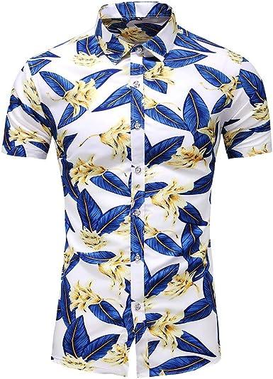Sylar Hombre Camisas de Manga Corta Tallas Grandes Camisa Hawaiana para Hombre Casual Camisas de Playa con Estampado de Flores Verano Vacaciones T-Shirt Blusas L-XXXXXXXL: Amazon.es: Ropa y accesorios