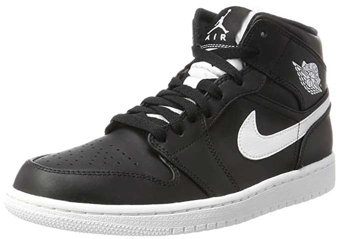 Amazon.com  Nike Men s Air Jordan 1 Mid Basketball Shoe Cool Black White- White 10.5  Sports   Outdoors 620a456da