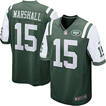 Amazon.com: Brandon Marshall New York Jets #15 Green Youth Game ...