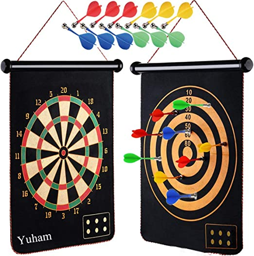 Yuham Magnetic Dart Board Indoor - Durable and Safe