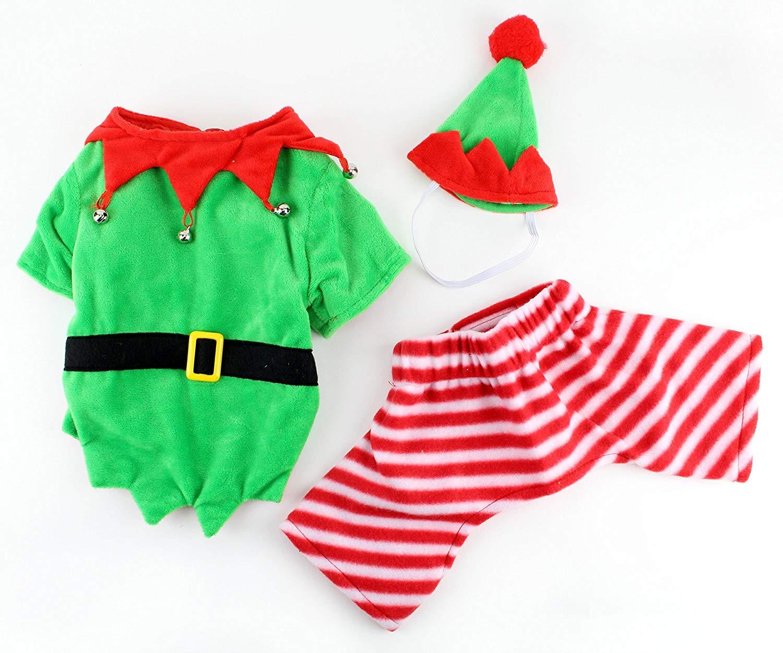 c3bbb8e11a Amazon.com   Midlee Dog Elf Costume (Small)   Pet Supplies