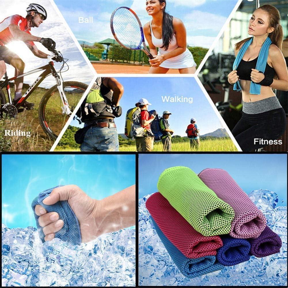 sport jogging Cool Towel Lot de 3 serviettes de fitness eau rafra/îchissante et stocke