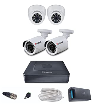 Iball CCTV Full HD 1080P 2.0 MP HD 4 CCTV Cameras With 4 Channel HD DVR - Kit Dome Cameras at amazon