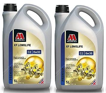 Millers Oils XF Longlife 0w30 C2 SN Aceite de Motor Totalmente sintético, 10 litros