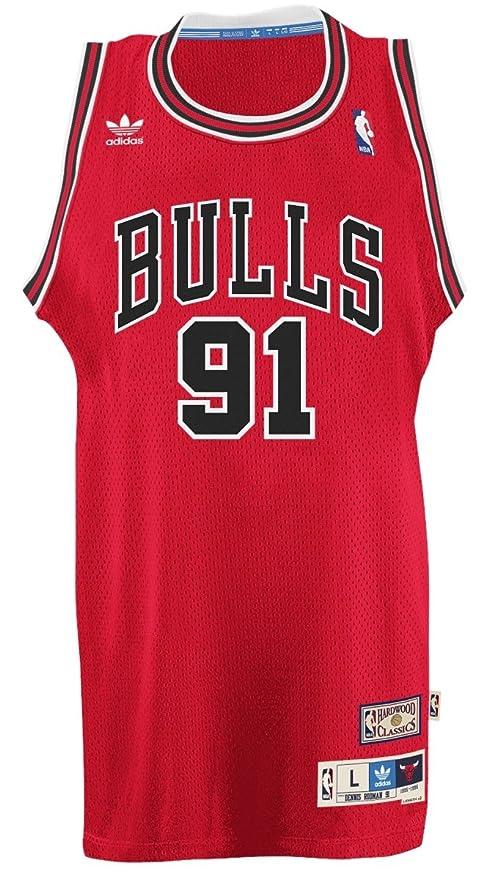 adidas Dennis Rodman Chicago Bulls NBA Throw Back Swingman Jersey ...