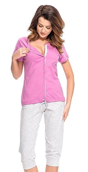 Conjunto Pijama de 2 piezas maternidad & alimentación 100% de algodón 5063: Amazon.es: Ropa y accesorios