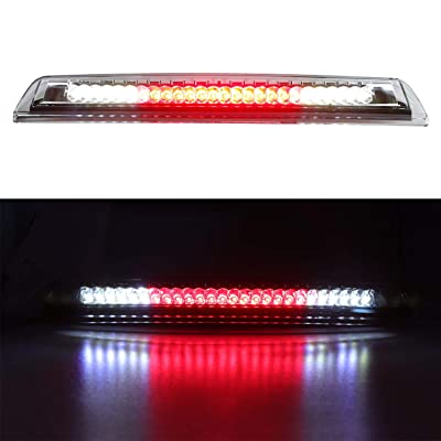 For 2004-2015 Nissan Titan, 2005-2016 Nissan Frontier LED 3rd Brake Light Cargo Light Assembly, Rear Roof Center High Mount Stop Light Replacement 26590-EA800 (Chrome Housing Clear Lens): Automotive