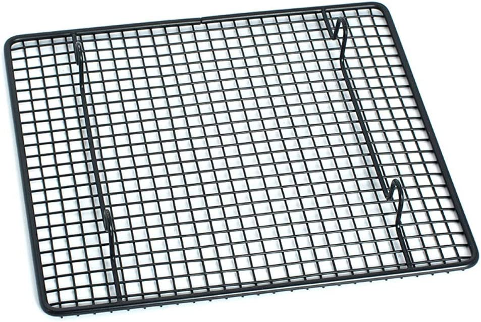 """QINGGUANGYAN 100% Stainless Steel Wire Cooling and Roasting Rack Fits Quarter Sheet Size Baking Pan, Oven Safe, Commercial Quality, Heavy Duty for Cooking, Roasting, Drying, Grilling(9"""" X 10"""")"""