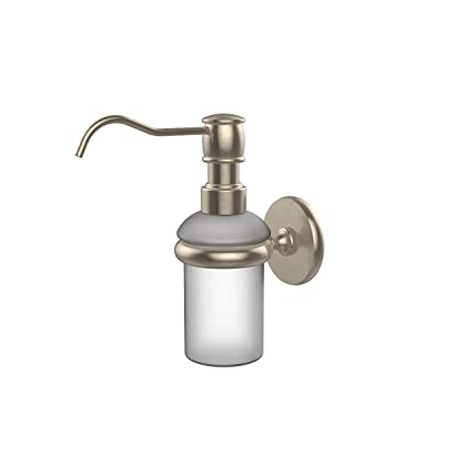 Allied Brass P1060 Pew Wall Mounted Soap Dispenser Antique Pewter