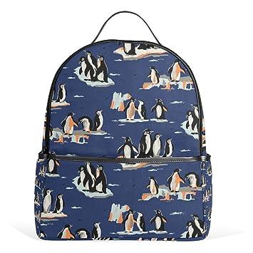 COOSUN Patrón Pingüino Mochilas Escolares Mochilas para Niños Niñas Adolescentes Niños Medio: Amazon.es: Equipaje