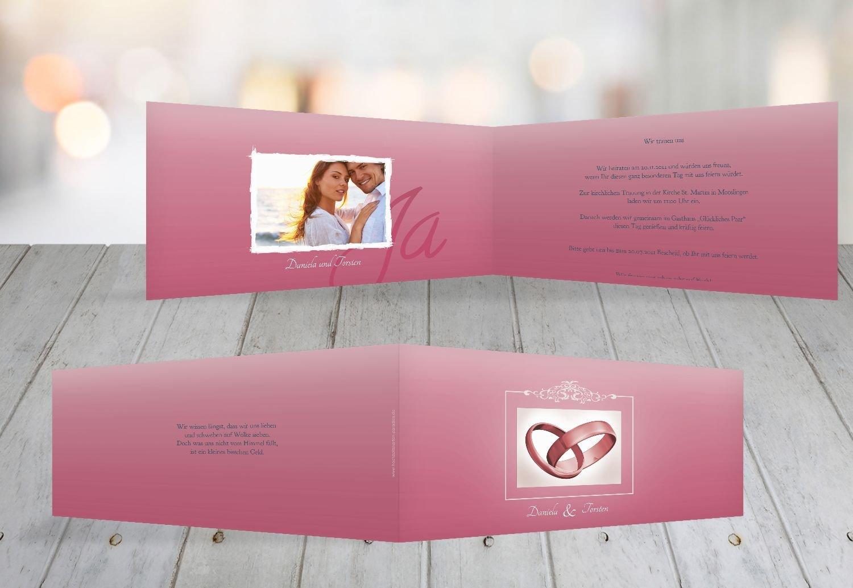 Kartenparadies Hochzeitskarte Hochzeit Einladung Din Din Din Ringetausch, hochwertige Einladung zur Heirat inklusive Umschläge   10 Karten - (Format  215x105 mm) Farbe  flamingoOrangerot B01MYAFDCV | Shopping Online  | Deutschland Online Shop  | Schöne Kun c650e9