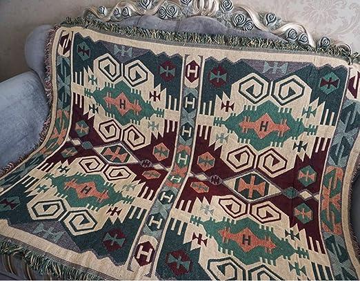 Jacquard borlas manta, manta sofá Miyare multifunción para manta ...