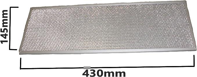 Find A - Filtro de malla de alambre para campana extractora, 145 mm x 430 mm para Elica Whirlpool: Amazon.es: Grandes electrodomésticos