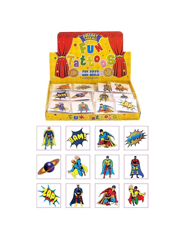 MunchieMoosKids 24 Kids Super Hero Tattoos HENBRANDT