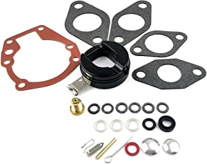 WINGOGO Carb Rebuild Kit 439071 with Float Replaces Johnson Evinrude OMC/BRP Outboard 3 4 5 5.5 6 7.5 10 15 18 HP 383052 382045 382046 382047 382049 Carburetor