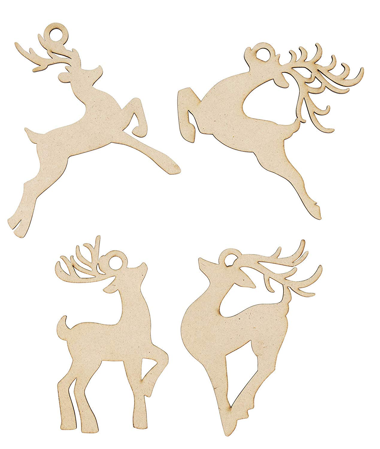 Festive Decoration Unfinished Wooden Christmas Ornaments 24-Pack Paintable Blank Xmas Tree Hanging Wood Slices for Kids DIY Art Crafts 4 Assorted Snowflake Designs 3.9 x 4.5 x 0.1 Inches
