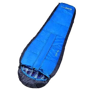KingCamp Junior chicos chicas ligero momia saco de dormir 100% algodón forro para senderismo Camping (azul): Amazon.es: Deportes y aire libre