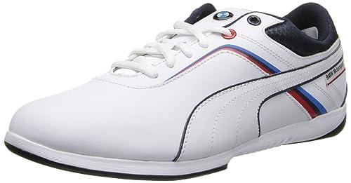 Puma Bmw - Zapatillas Hombre, White-Bmw Team Blue 1, US 7|UK 6|EU 39: Amazon.es: Zapatos y complementos