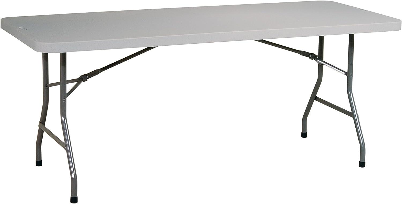 Office Star Resin Multipurpose Rectangle Table, 6-Feet Long