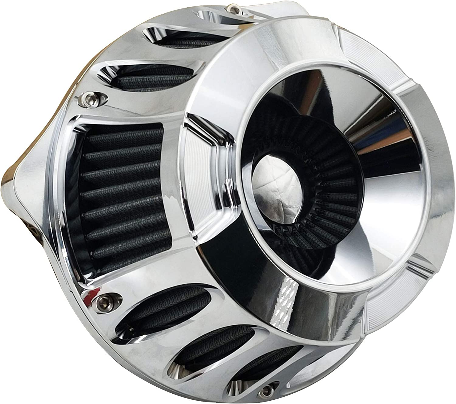 Harley Air Cleaner Motorcycle Filter Max overseas 76% OFF Intake f CNC Chrome Kit Cut
