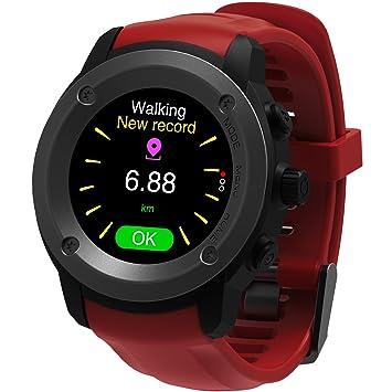 GPS Running Reloj GPS con monitor de frecuencia cardiaca en la muñeca, monitor de actividad y notificaciones inteligentes Reloj inteligente GPS para ...