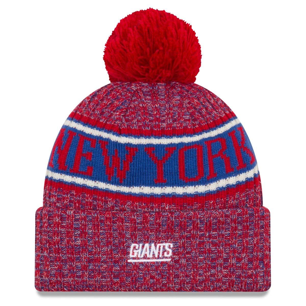 634a3a06b5f54f Amazon.com: New Era New York Giants Reverse Sport Knit NFL 2018 Beanie,  OSFM: Sports & Outdoors