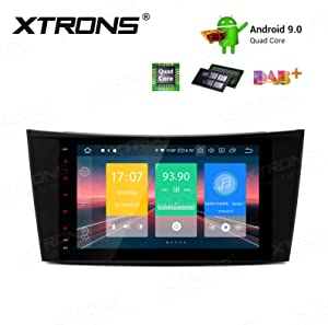 XTRONS Android 9.0 Car Stereo Radio GPS Navigation 8 Inch Touch Screen Slim Design Head Unit Supports Plug and Play WiFi Bluetooth Backup Camera DVR OBD2 TPMS for Mercedes Benz E-Class W211 CLS W219