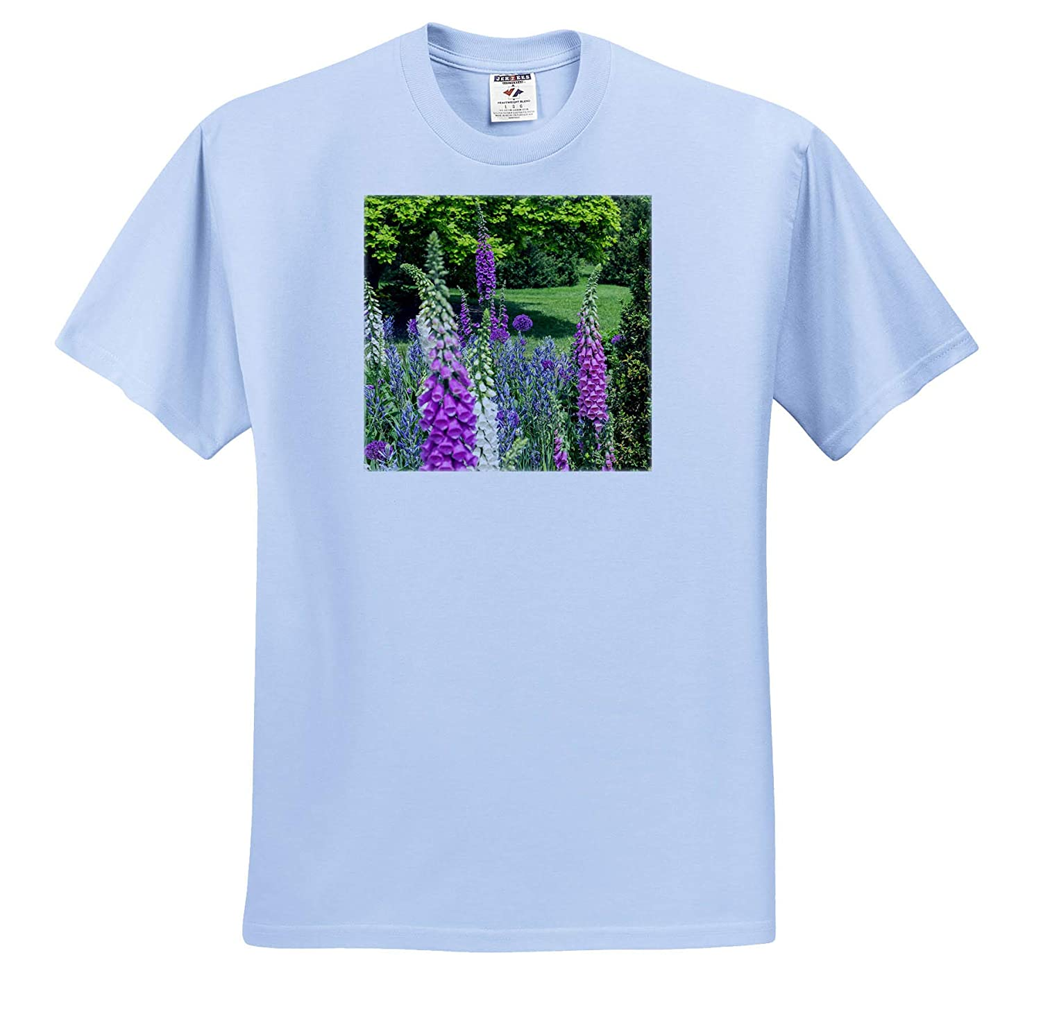 Gardens - Adult T-Shirt XL ts/_315000 3dRose Danita Delimont Foxglove and Other Spring Flowers