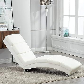 mecor Chaise Longue/Canapé/Méridienne Salon en Cuir Chaise de ...